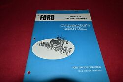 Ford Tractor 420 Tool Bar Cultivator Operator's Manual Chpa