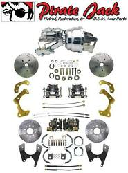 1965-1968 Impala Bel Air Front And Rear Disc Brake Conversion Chrome Booster Kit