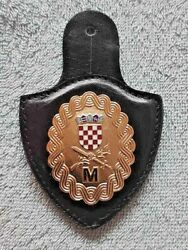 Croatia Army Hv  Defence Minister Chest Badge In A Leather Holster. Very Rare