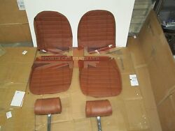 New Seat Covers Upholstery Mgb 1973-80 Made In Uk + Headrests Autumn Leaf