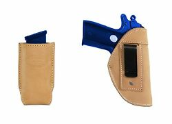 New Barsony Tan Leather IWB Holster + Mag Pouch Ruger Kel-Tec MiniPocket 22 380