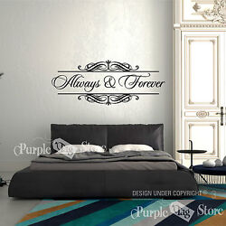 Always And Forever Vinyl Art Home Wall Room Bedroom Quote Decal Sticker Decor 3
