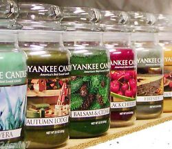 Q Z Scents Yankee Candle LARGE 22 oz JAR amp; TUMBLER CANDLES Retired New CHOICES