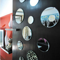 Decorative wall decals with acrylic mirror