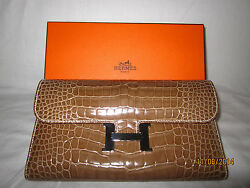 Hermes Constance Wallet in Crocodile Skin (Extremely Rare piece)