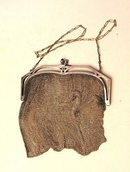 VICTORIAN ART DECO WHITING AND DAVIS MESH BAG PURSE GREAT GIFT!!!