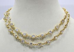 Vintage Antique Solid 20k Gold Cubic Zirconia Chain Or Necklace Rajasthan India