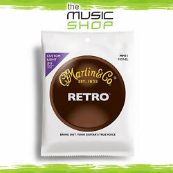 New Martin Retro Series 11-52 Acoustic Guitar Strings For Vintage Tone - Mm11