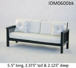 Mission Style Sofa 1/12 Scale Dollhouse Miniatures Heirloom Collection