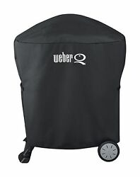 Weber Grill Q 200 Gas Grill Full Length Cover For Rolling Cart 7113