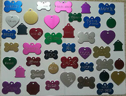 CUSTOM ENGRAVED DOG PET TAG SINGLE SIDE PERSONALIZED ID DOG CAT CHARM TAGS $4.98