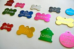 CUSTOM ENGRAVED PERSONALIZED PET TAG ID DOG CAT NAME TAGS DOUBLE SIDE $5.99