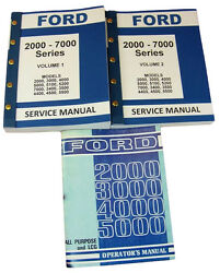 Lot Ford 3000 4000 Series Tractor Service Repair Shop And Operators Owners Manuals