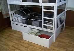 Twin Or Full Bed Storage Drawers Only 9 Paint Options Amish Made In Usa