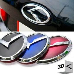 3d K Logo Rear Trunk Emblem Black / Blue / Red For Kia New Forte Yd K3 2014+