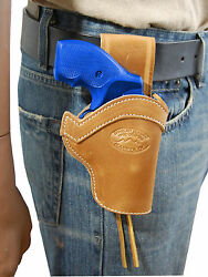 NEW Barsony Tan Leather Western Belt Loop Holster Charter Arms 22 38 357 Snub 2