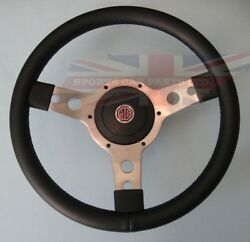 New 13 Vinyl Steering Wheel And Adaptor For Mg Midget 1970-1977 And Mgb 1970-1976