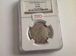 1636 - 38 England 1 S In Ngc Holder Xf 40