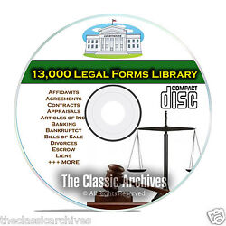 Over 13000 Printable Editable Legal Forms Business Bankruptcy Personal CD B61