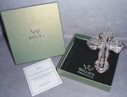 2010 Wallace 15th Grand Baroque Cross Sterling Silver Christmas Ornament Pendant