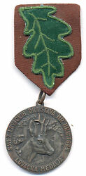 Croatia 1949 Hunting Medal Award For Breeding And Protection Of Wild Animals