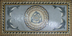 Carpet Long Dolphins Waves Garden Pool Home Marble Mosaic CR798