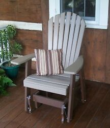 Fanback Adirondack Glider Chair Two Tone Colors Two Color Glider Chair