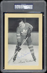 1934-44 Beehive Gordie Drillon Toronto Maple Leafs Autographed/signed Psa/dna