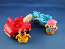 Fisher Price Little People Tow And Go Julie Mechanic Set 1998 Hard To Find