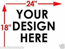 12 Design Your Own 18 X 24 2-sided Plastic Sign W/ Metal Stakes