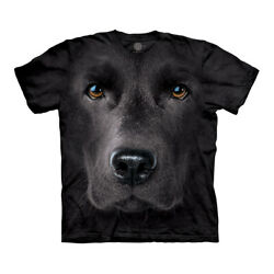 The Mountain Black Lab Face Adult Unisex T Shirt