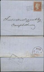 PENNY RED 1855 SCOTS LOCAL USED as CANCEL...LONDON STREET to CAMPBELTOWN SCp16