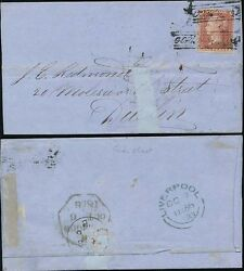 PENNY RED 1856 SCOTS LOCAL USED as CANCEL..GORDON STREET to DUBLIN..COVER FAULTY