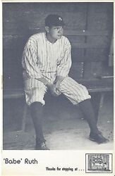 Babe Ruth New York Yankees Sitting On The Bench 1960and039s Hall Of Fame Souvenir
