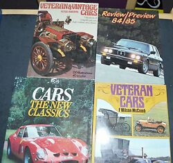 Lot Of 4 Books On Classic And Antique Cars Veteran And Vintage Collecting B4