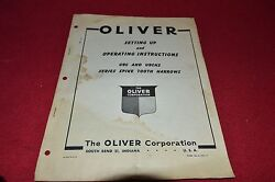 Oliver White Tractor Ubchs Ubc Spike Tooth Harrow Operator's Manual Bvpa
