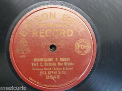 78 Rpm Will Evans Harnessing A Horse , Edison Bell 2845 , Superb