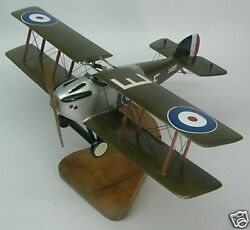 Sopwith 5-f-1 Dolphin Fighter Airplane Desktop Wood Model Large New Free Ship