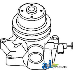 Compatible With John Deere Water Pump L/ Back Plate At12862 1010 Crawler - Gas