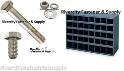 Stainless Bolt Nut Flat And Lock Washer Assortment Kit 1496 With 40 Hole Bolt Bin