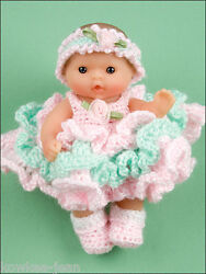 Itty Bitty Dress Up Fashions, 5 Baby Doll Clothes Crochet Patterns - See Pics