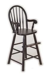 Oak Bow Back Youth Booster High Chair Child Toddler Usa Handmade Wood Furniture