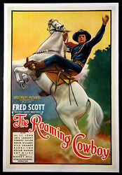 The Roaming Cowboy Vintage Fred Scott Western Movie Poster 1937