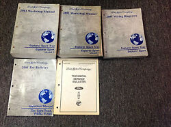 2001 Ford Explorer Sport Trac Service Shop Repair Manual Set W EWD