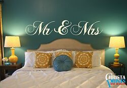 Mr And Mrs Couple Love Bedroom Wall Art Quote Decor Room Decal Sticker Wallpaper