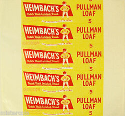 Vintage Bread Wrapper Heimbachs Pullman Loaf Strong Man Allentown Penna Unused