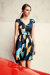 New Anthropologie Fit-and-flair Pinion Dress By Moulinette Soeurs Size 2