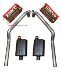 67 - 81 Chevrolet Camaro 2.5 Mandrel Bent Dual Exhaust - Flowmaster 40 Series