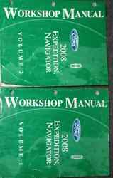 2008 LINCOLN NAVIGATOR FORD EXPEDITION Repair Service Shop Manual Set FACTORY 2V