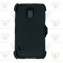 Black for Samsung Galaxy S5 Defender Case w Belt Clip fits Otterbox $9.99
